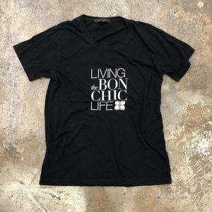 BCBG MaxAzria living the bon chic life tee shirt